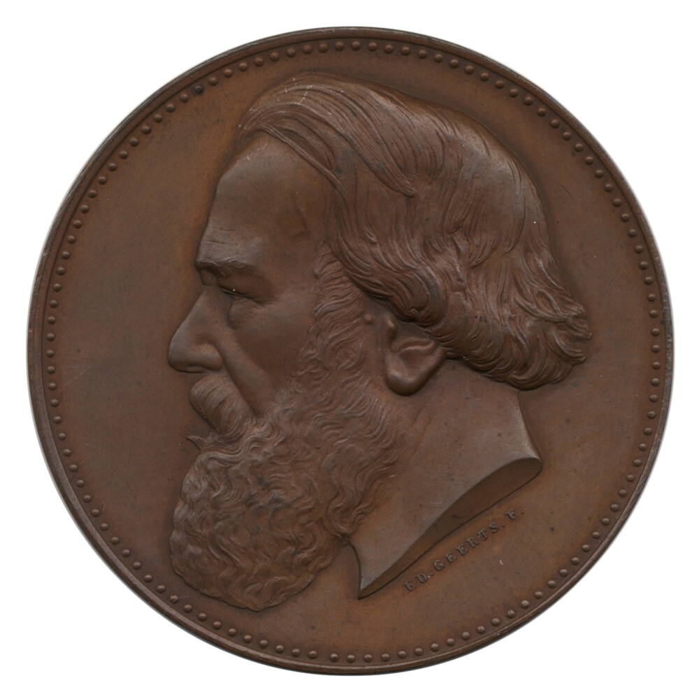 preview image for Medal of Pierre Joseph van Beneden, by E.D. Geerts, Belgium, 1886