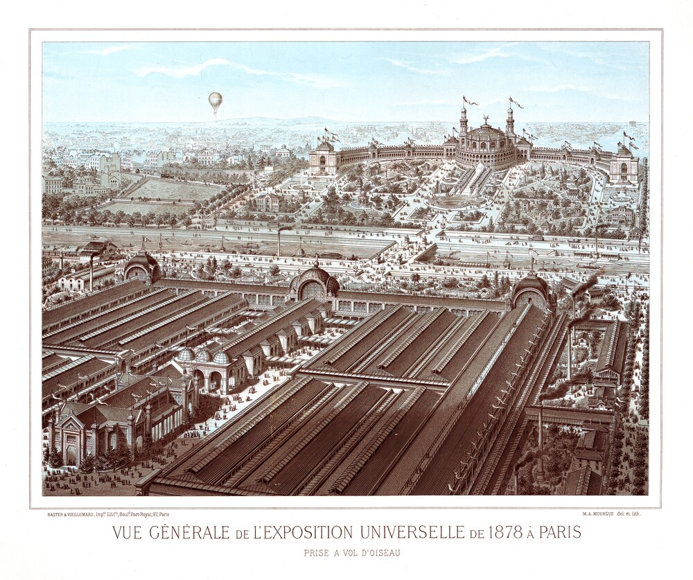 preview image for Print (Lithograph, Coloured) of the Universal Exhibition at Paris, 1878