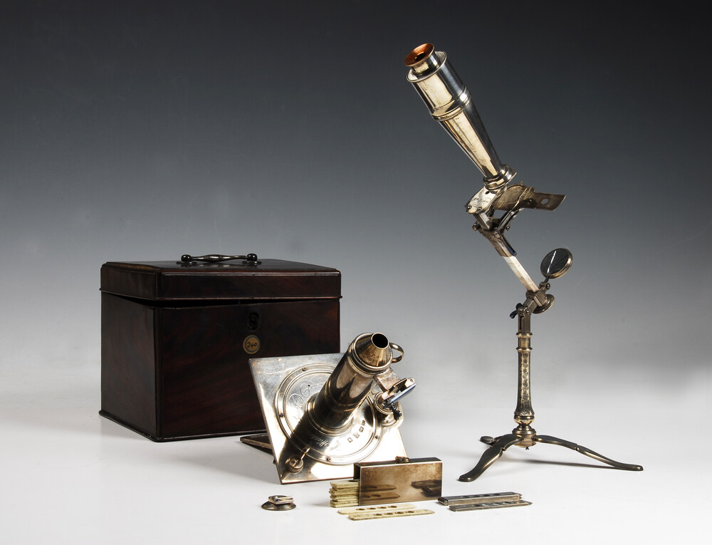 preview image for Compound, Simple & Solar Microscope with Case and Accessories, by Francis Watkins, London, 1754