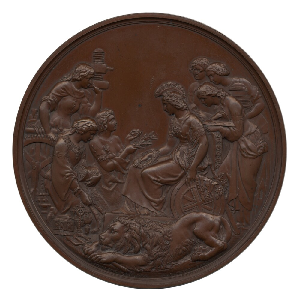 preview image for Exhibition Medal, Engraved by Leonard Charles Wyon, London, 1862