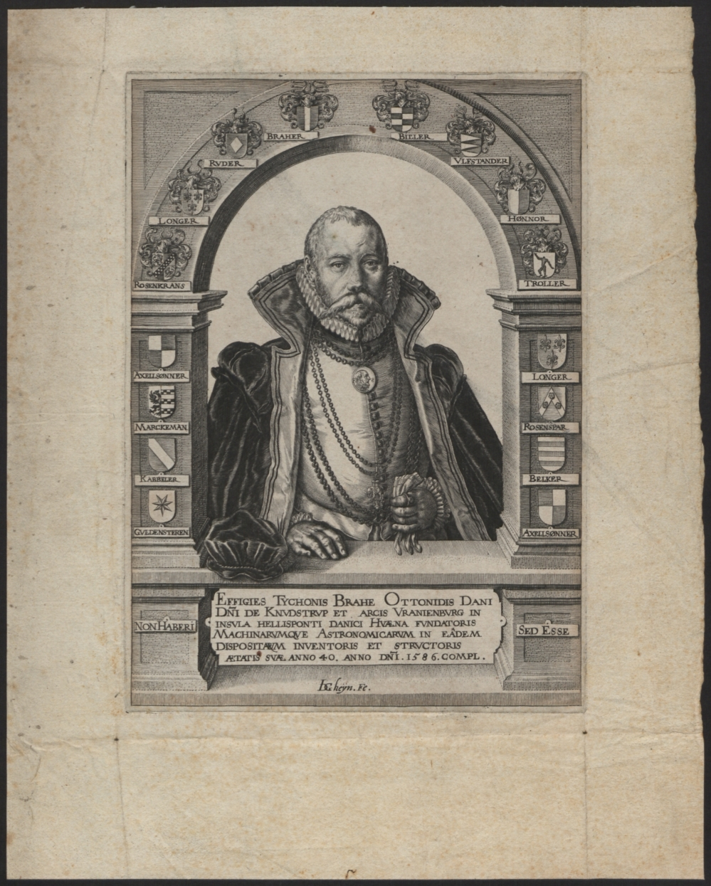 preview image for Print (Engraving) of Tycho Brahe, by Jaques de Gheyn, The Netherlands, 1586