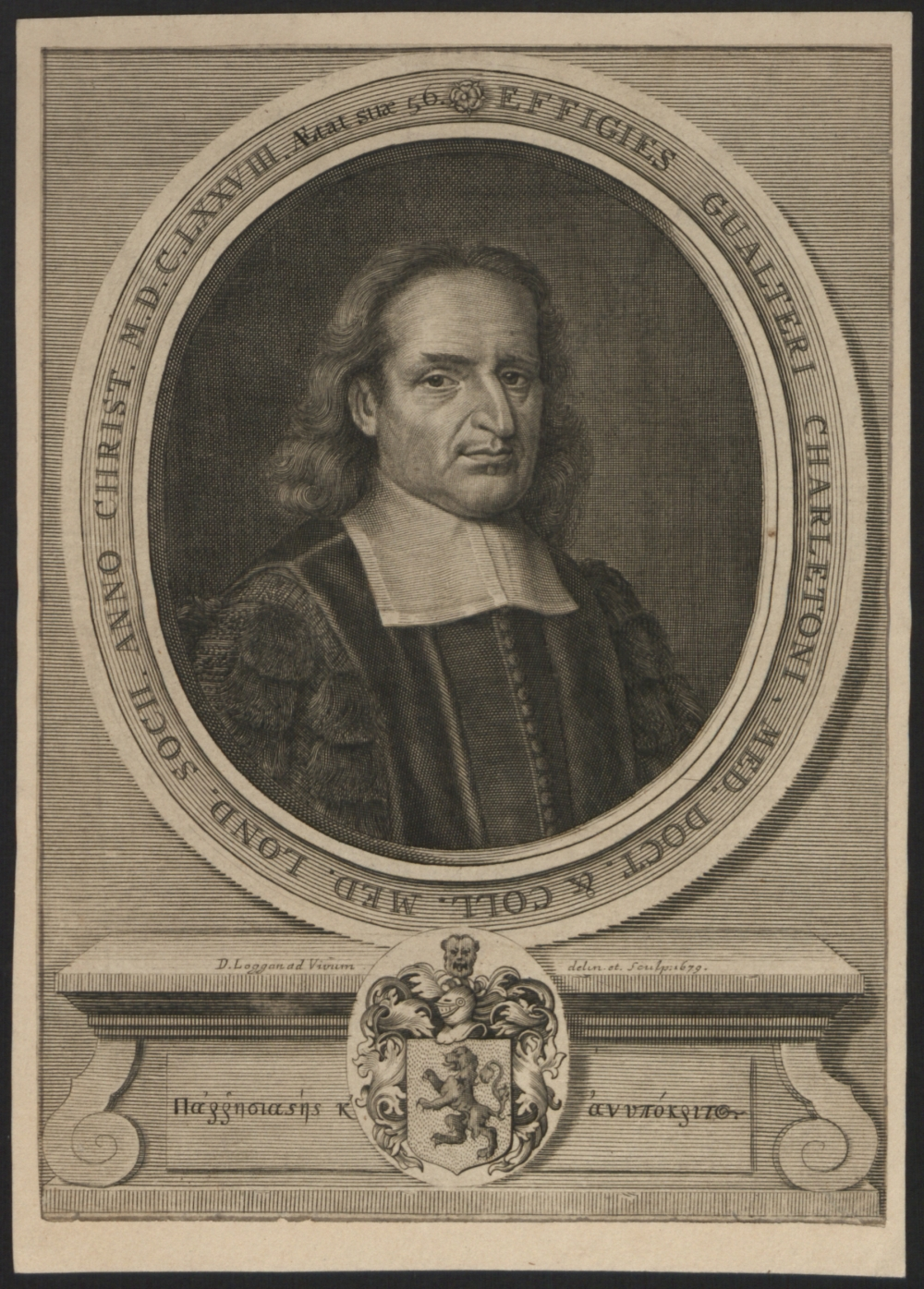 preview image for Print (Engraving) Walter Charleton, by Loggan, 1679