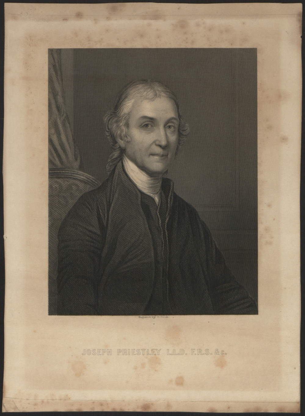 preview image for Print (Engraving) of Joseph Priestley, Engraved by C. Cook, 19th Century
