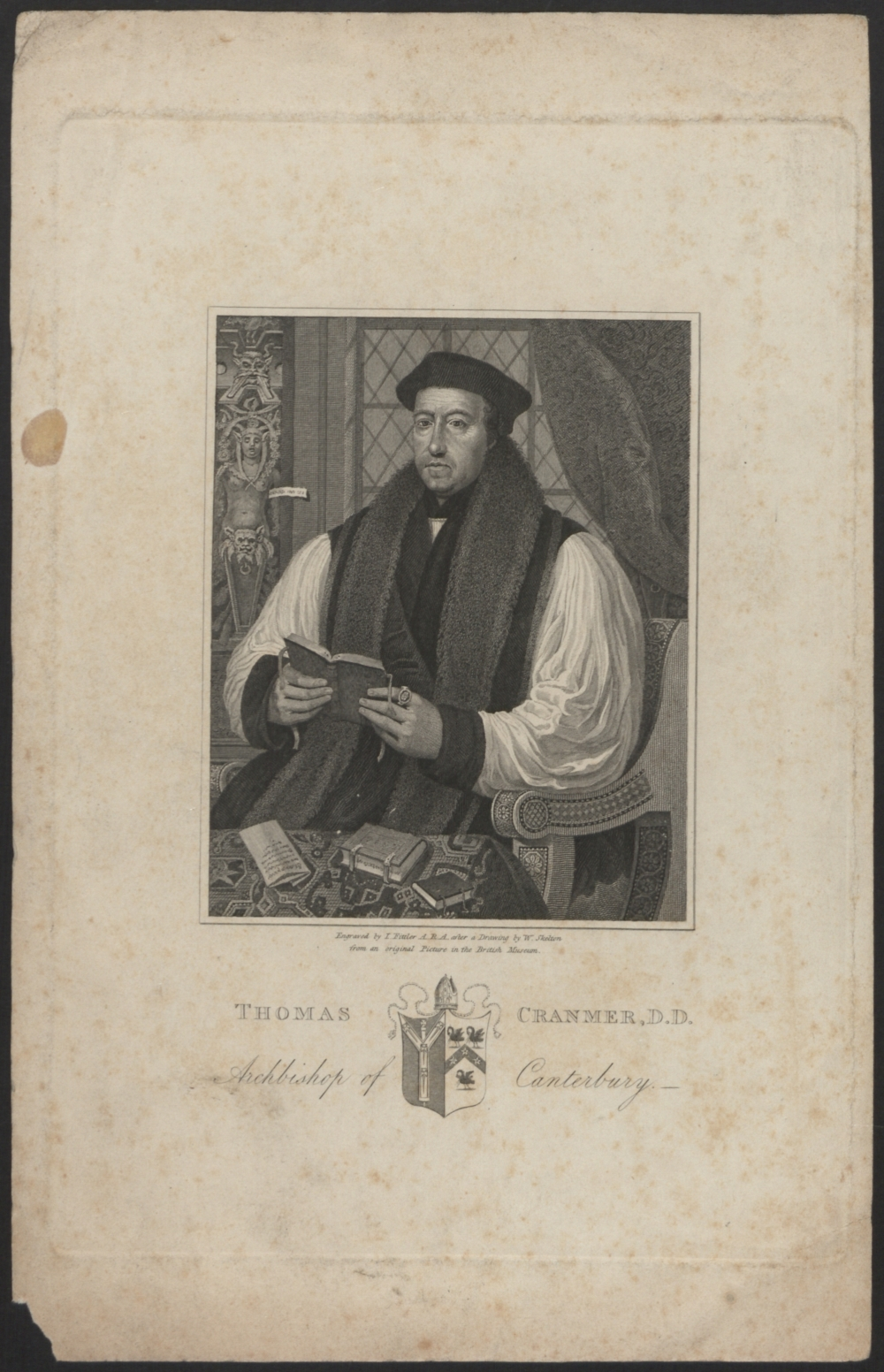 preview image for Print (Engraving) Thomas Cranmer, by W. Skelton, engraved by I. Fittler, from an original picture at the British Museum, 19th Century