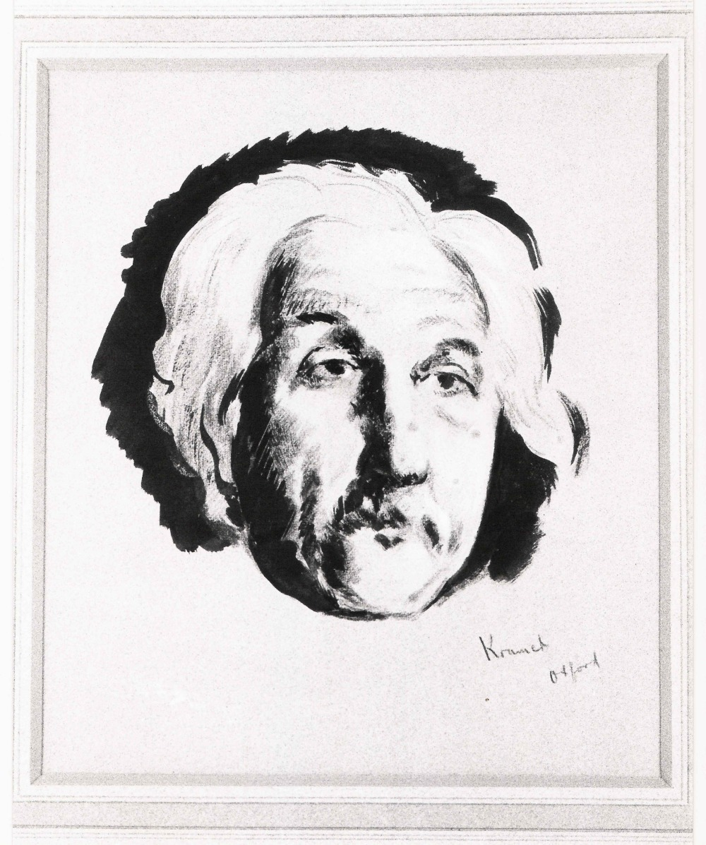 preview image for Drawing of Albert Einstein, by Jacob Kramer, Oxford, Probably 1930s