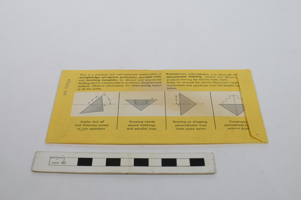 preview image for Geo-Liner Triangular Protractor and Set-Square, by Aristo, German, c. 1960