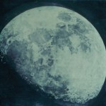Moon pastel by John Russell, 1795, for Earth and Space, an image for Earth and Space