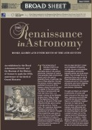 Broad Sheet 12: The Renaissance in Astronomy