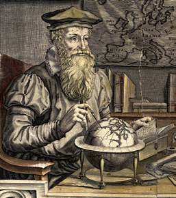17. Terrestrial and celestial globes by Gerard Mercator ...