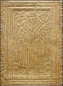 Heinrich Cornelius Agrippa, De occulta philosophia (Paris, [1567]), front cover (detail).